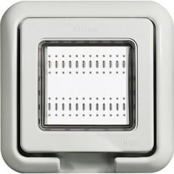 Tapa Gris Empotrar 2 Módulos Exterior IP55 Living-Light 24602