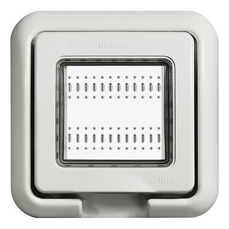 Tapa de 2 Módulos para Intemperie para Caja de Empotrar IP55 para Mecanismos Living-Light de Bticino