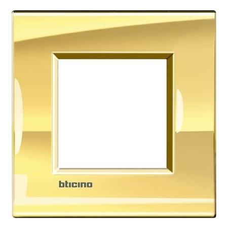 Placa 1 Ventana Oro Frio LNA4802OA BTicino Livinglight