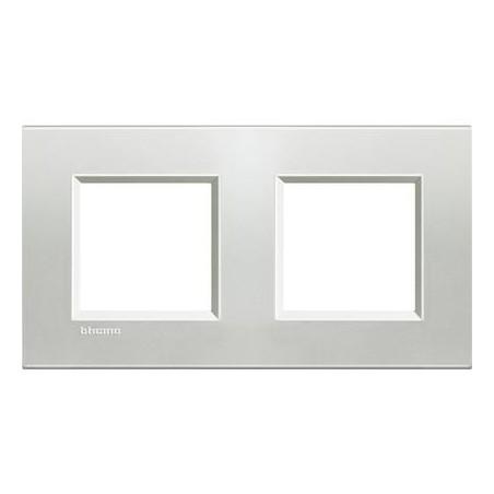 Placa 2 Ventanas Plata LNA4802M2AG BTicino Livinglight