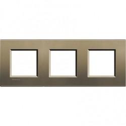 Placa 3 Ventanas Square LNA4802M3SQ BTicino livinglight