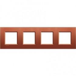 Placa 4 Ventanas Brick LNA4802M4RK BTicino livinglight