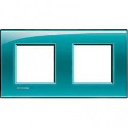 Placa 2 Ventanas Verde LNA4802M2VD BTicino Livinglight