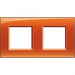 Placa 2 Ventanas Naranja LNA4802M2OD bticino Livinglight