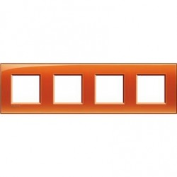 Placa 4 Ventanas Naranja LNA4802M4OD BTicino Livinglight