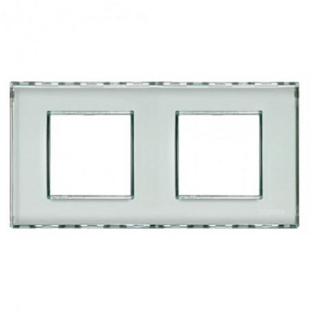 Placa 2 Ventanas Personalizable LND4802M2KR BTicino Livinglight