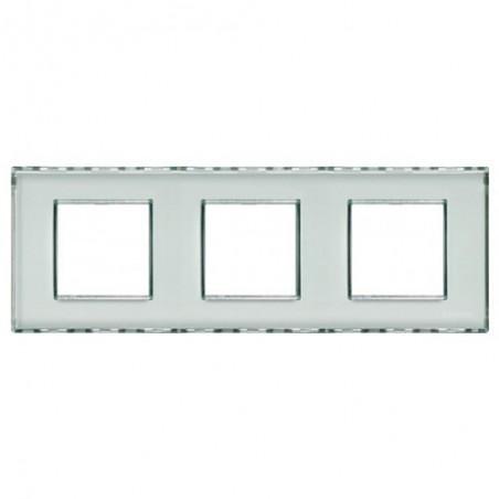 Placa 3 Ventanas Personalizable LND4802M3KR BTicino Livinglight