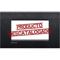 Placa Rectangular 4 Módulos Negro Lava LNC4804NL Livinglight AIR
