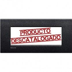 Placa Rectangular 7 Módulos Livinglight AIR LNC4807NL Negro lava