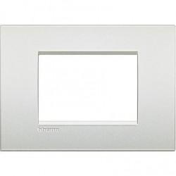 Placa rectangular 3 Módulos Blanco Perla LNC4803PR Livinglight AIR