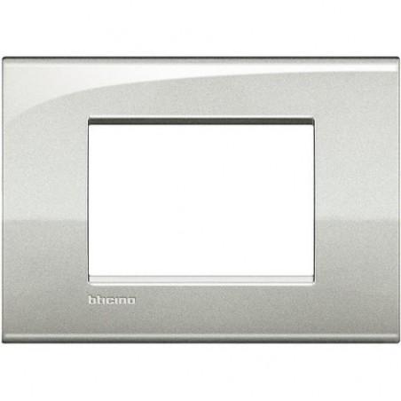 Placa rectangular 3 Módulos Plata Lunar LNC4803GL Livinglight AIR