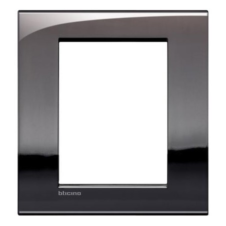 Placa rectangular 3+3 Módulos Estaño LNC4826PT Livinglight AIR