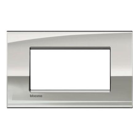 Placa Rectangular 4 Módulos LNC4804PL Livinglight AIR Paladio