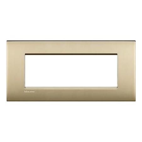 Placa Rectangular 7 Módulos Livinglight AIR Oro LNC4807OF BTicino