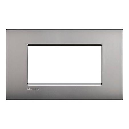 Placa Rectangular 4 Módulos Níquel LNC4804NK BTicino Livinglight AIR