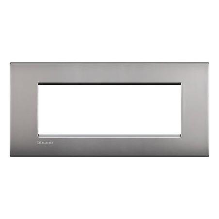 Placa Rectangular 7 Módulos LNC4807NK Niquel Livinglight AIR BTicino