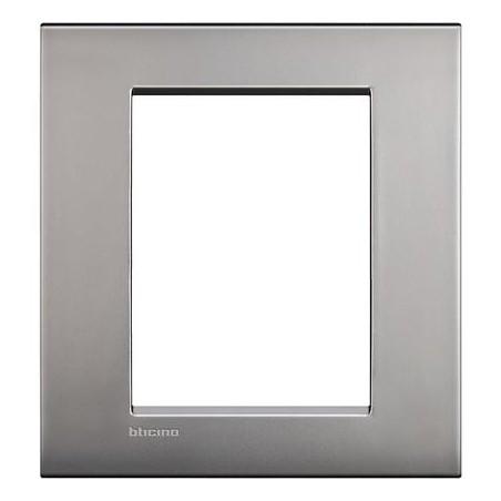 Placa Rectangular 3+3 Módulos Níquel Livinglight AIR LNC4826NK BTicino