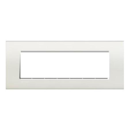Placa Rectangular 7 Módulos Blanco LNA4807BI Bticino Livinglight