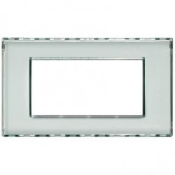 Placa Rectangular 4 Módulos Personalizable LND4804KR BTicino Livinglight