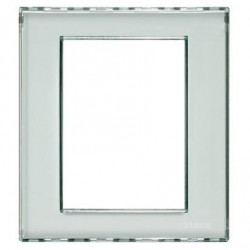 Placa Rectangular 3+3 Módulos Personalizable Livinglight BTicino LND4826KR