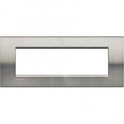 Placa Rectangular Acero pulido 7 Módulos LNA4807ACS Bticino Livinglight