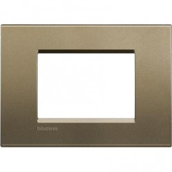 Placa Rectangular 3 Módulos LNA4803SQ Square BTicino Livinglight
