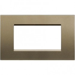 Placa Rectangular Square 4 Módulos Livinglight BTicino LNA4804SQ