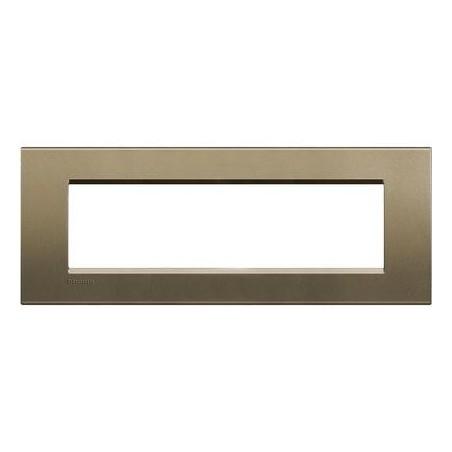 Placa Rectangular 7 Módulos Square Livinglight BTicino LNA4807SQ