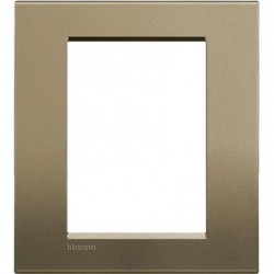 Placa Rectangular Square 3+3 Módulos LNA4826SQ Bticino Livinglight