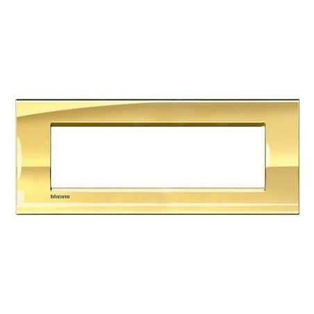 Placa Rectangular Oro frío 7 Módulos LNA4807OA Bticino Livinglight