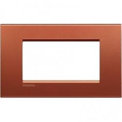 Placa Rectangular Brick 4 Módulos BTicino Livinglight LNA4804RK