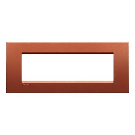 Placa Rectangular 7 Módulos Brick LNA4807RK Bticino Livinglight