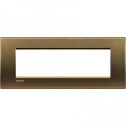 Placa Rectangular 7 Módulos Bronce LNA4807BZ Bticino Livinglight