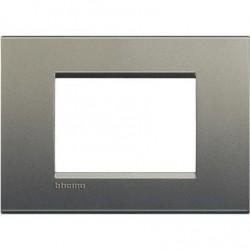 Placa Rectangular 3 Módulos LNA4803AE Avenue BTicino Livinglight