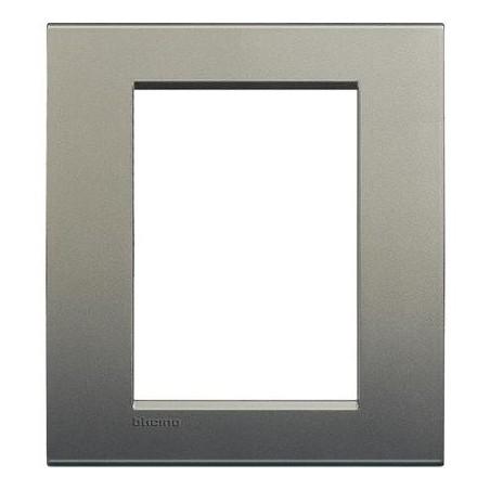 Placa Rectangular 3+3 Módulos Avenue Livinglight BTicino LNA4826AE