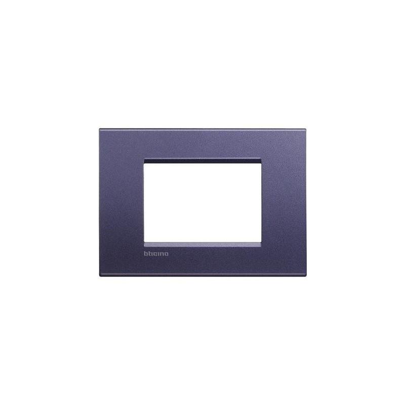 Placa Rectangular 3 Módulos LNA4803CB BTicino Livinglight Club