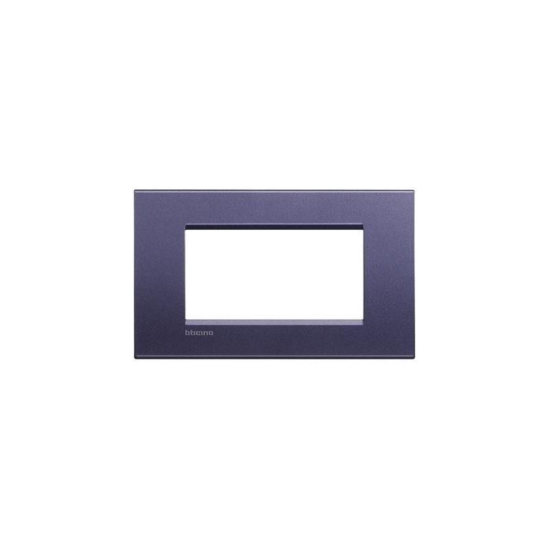 Placa Rectangular Club 4 Módulos LNA4804CB Bticino Livinglight
