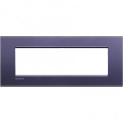 Placa Rectangular Bticino Livinglight 7 Módulos Club LNA4807CB