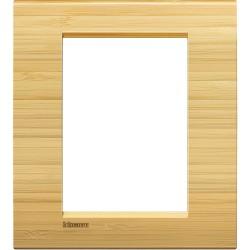 Placa Rectangular 3+3 Módulos Livinglight BTicino LNA4826LBA Bambú