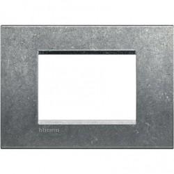 Placa Rectangular 3 Módulos LNA4803NA Native BTicino Livinglight