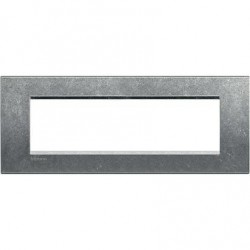 Placa Rectangular Bticino Livinglight 7 Módulos LNA4807NA Native