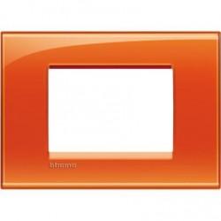 Placa Rectangular 3 Módulos LNA4803OD Naranja BTicino Livinglight