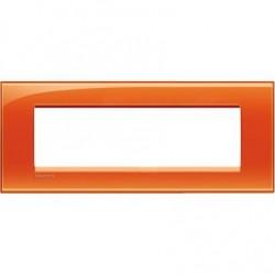 Placa Rectangular 7 Módulos Naranja LNA4807OD Bticino Livinglight
