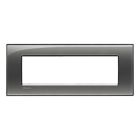 Placa Rectangular 7 Módulos Fumé LNA4807KF Bticino Livinglight