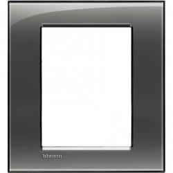 Placa Rectangular 3+3 Módulos Fumé Livinglight BTicino LNA4826KF