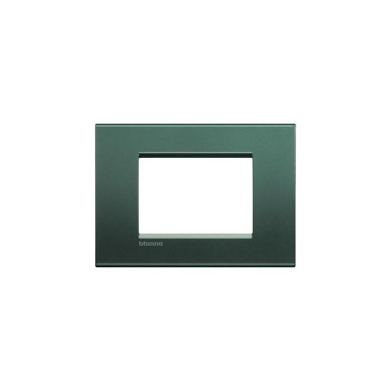 Placa Rectangular 3 Módulos LNA4803PK Park BTicino Livinglight