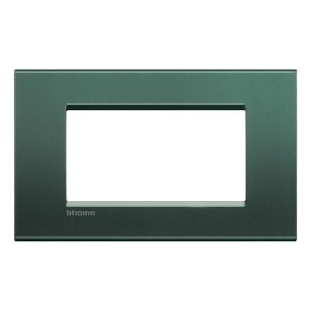 Placa Rectangular Bticino Livinglight 4 Módulos LNA4804PK Park
