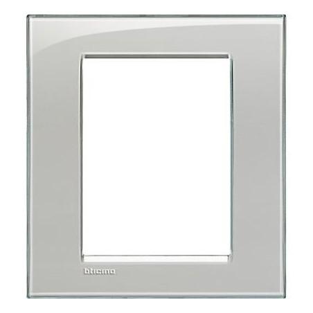 Placa Rectangular Gris hielo 3+3 Módulos LNA4826KG Livinglight Bticino
