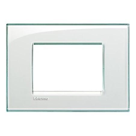 Placa Rectangular 3 Módulos Aguamarina LNA4803KA Livinglight BTicino