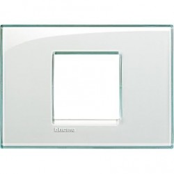 Placa Rectangular 2 Módulos Aguamarina LNA4819KA Livinglight BTicino